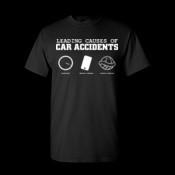 Leading causes of car accidents, speeding, mobile phones, turtle shells