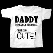 Daddy thinks he's in charge, that's so cute!