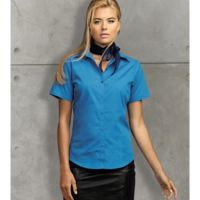 Premier Women's short sleeve poplin blouse Thumbnail