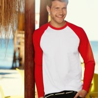 Fruit of the Loom long sleeve baseball tee Thumbnail