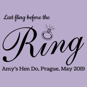 Last fling before the ring Design